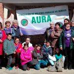 Mujeres de Villalmazo (Burgos) durante una de las movilizaciones en cientos de pueblos el pasado 8 de marzo de 2019 en nuestro país