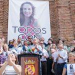 Acto celebrado en Monesterio por la desaparición de Manuela Chavero