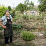 Una mujer rural en el municipio de Alcanadre (La Rioja).